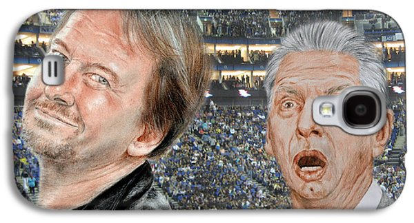Owner Mixed Media Galaxy S4 Cases - Roddy Piper and Vince McMahon  Galaxy S4 Case by Jim Fitzpatrick