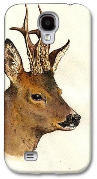 Roe Deer Head Study Galaxy S4 Case by Juan  Bosco