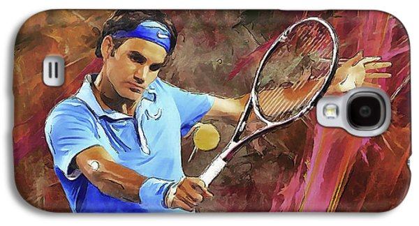 Roger Federer Backhand Art Galaxy S4 Case by RochVanh