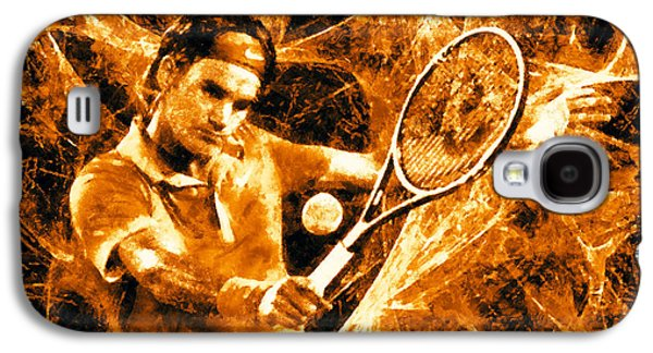 Roger Federer Clay Galaxy S4 Case by RochVanh
