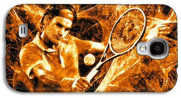 Roger Federer Galaxy S4 Cases - Roger Federer Clay Galaxy S4 Case by RochVanh