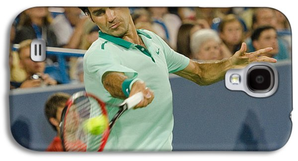 Roger Federer Galaxy S4 Cases - Roger Federer Galaxy S4 Case by David Long
