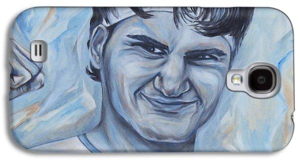 Slam Galaxy S4 Cases - Roger Federer Galaxy S4 Case by Nikolett Komeny