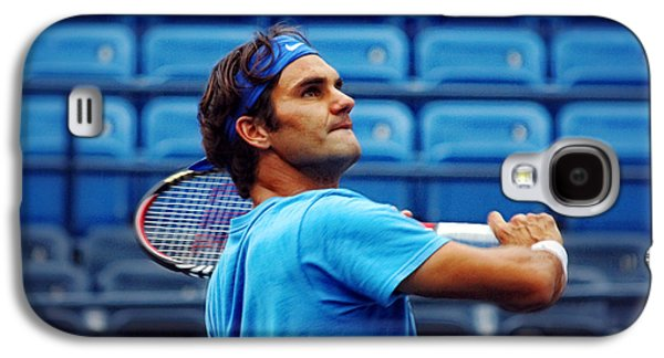 Volley Galaxy S4 Cases - Roger Federer  Galaxy S4 Case by Nishanth Gopinathan