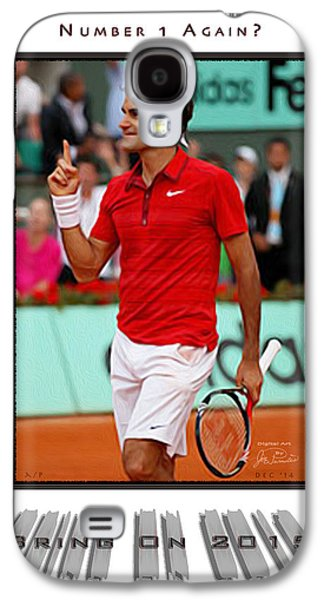 Slam Galaxy S4 Cases - Roger Federer Number One In 2015 Galaxy S4 Case by Joe Paradis