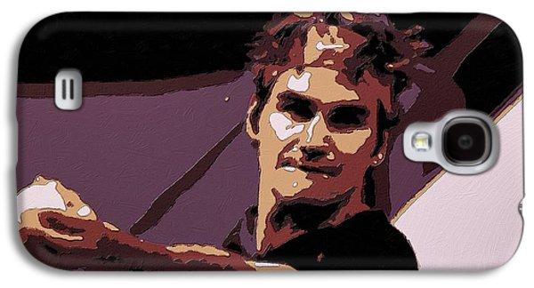 Roger Federer Poster Art Galaxy S4 Case by Florian Rodarte