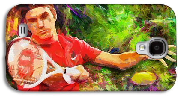 Nike Galaxy S4 Cases - Roger Federer Galaxy S4 Case by RochVanh