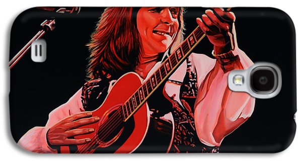 America Paintings Galaxy S4 Cases - Roger Hodgson of Supertramp Galaxy S4 Case by Paul  Meijering