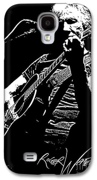 Famous Artist Galaxy S4 Cases - Roger Waters No.01 Galaxy S4 Case by Caio Caldas