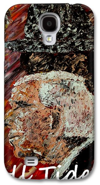 Bryant Paintings Galaxy S4 Cases - Roll Tide with Bear Bryant and Mal Moore  Galaxy S4 Case by Mark Moore