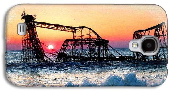 Storm Prints Mixed Media Galaxy S4 Cases - Roller Coaster After Sandy Galaxy S4 Case by Tony Rubino