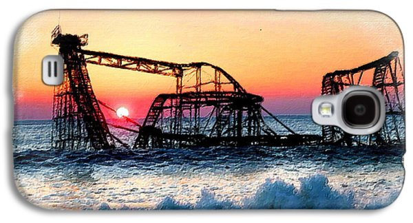 Jet Star Mixed Media Galaxy S4 Cases - Roller Coaster After Sandy Galaxy S4 Case by Tony Rubino