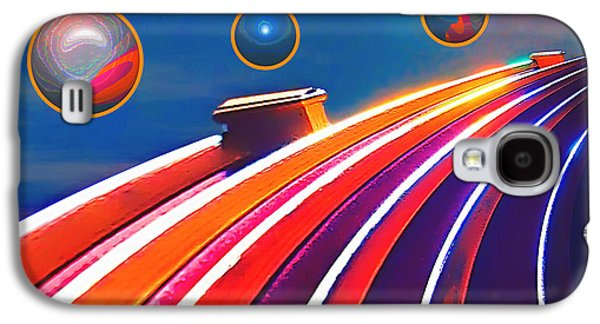 Photo Manipulation Galaxy S4 Cases - Rollerball Galaxy S4 Case by Wendy J St Christopher