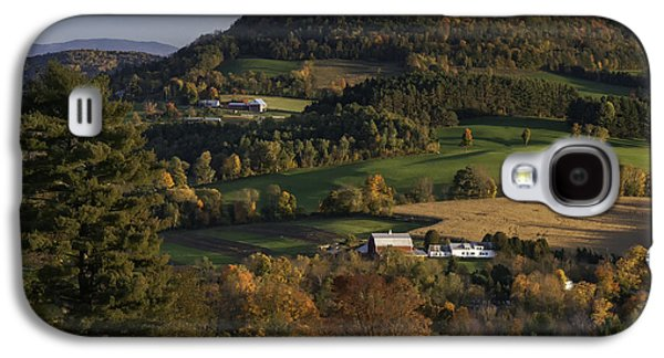 Scenic Drive Galaxy S4 Cases - Rolling Hills of Peacham Vermont - Autumn scenic Galaxy S4 Case by Thomas Schoeller