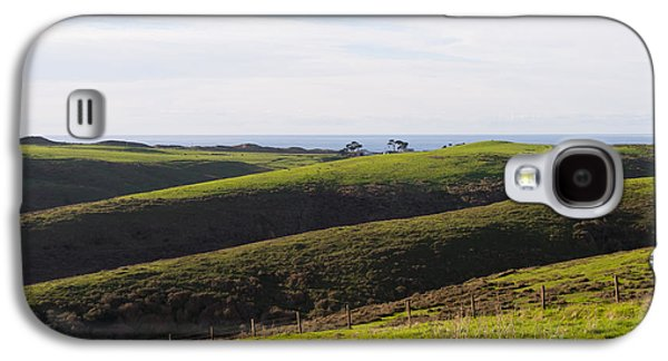 Contemplative Photographs Galaxy S4 Cases - Rolling Landscape Hills of Point Reyes National Seashore California DSC2408 Galaxy S4 Case by Wingsdomain Art and Photography