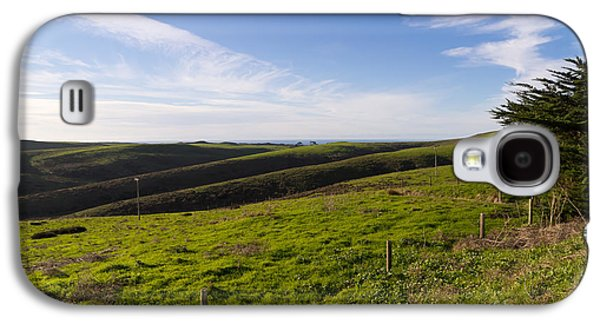 Contemplative Photographs Galaxy S4 Cases - Rolling Landscape Hills of Point Reyes National Seashore California DSC2411 Galaxy S4 Case by Wingsdomain Art and Photography