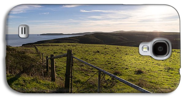 Contemplative Photographs Galaxy S4 Cases - Rolling Landscape Hills of Point Reyes National Seashore California DSC2432 Galaxy S4 Case by Wingsdomain Art and Photography