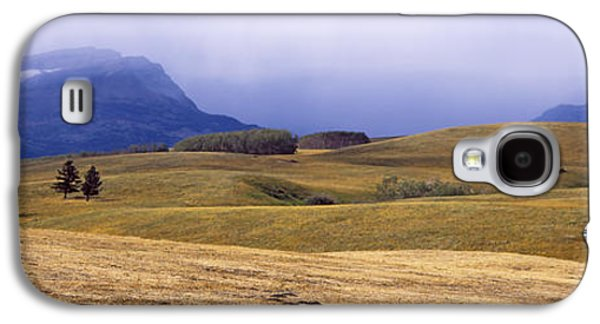Pastureland Galaxy S4 Cases - Rolling Landscape With Mountains Galaxy S4 Case by Panoramic Images
