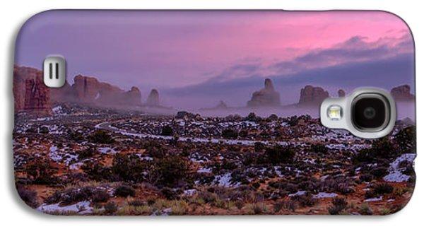 Fog Mist Galaxy S4 Cases - Rolling Mist Through Arches Galaxy S4 Case by Chad Dutson