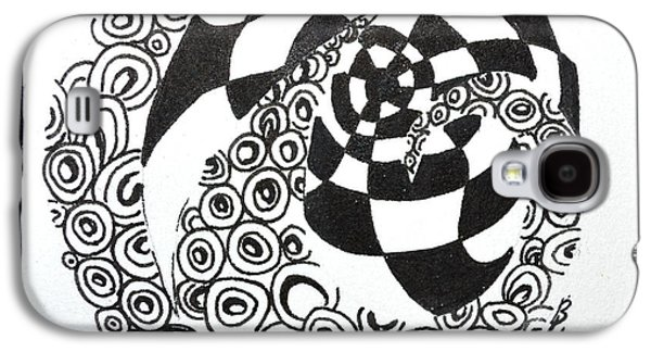 Plum Drawings Galaxy S4 Cases - Rolling Zen Galaxy S4 Case by Beverley Harper Tinsley