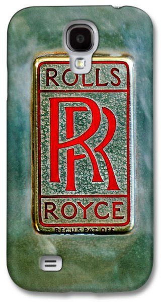 Transportation Photographs Galaxy S4 Cases - Rolls-Royce Emblem -1801c Galaxy S4 Case by Jill Reger