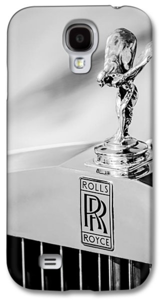 Transportation Photographs Galaxy S4 Cases - Rolls-Royce Hood Ornament -782bw Galaxy S4 Case by Jill Reger