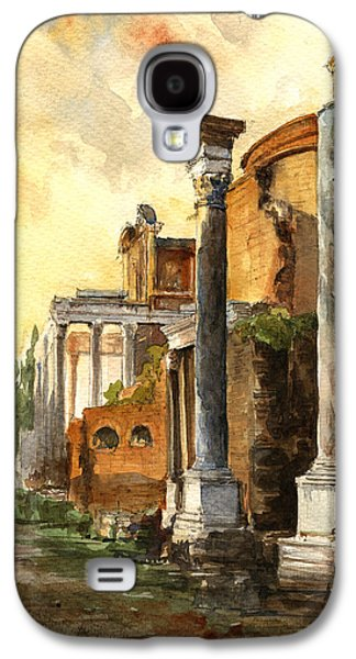 Columns Galaxy S4 Cases - Roman forum Galaxy S4 Case by Juan  Bosco