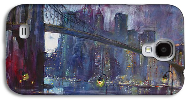 Bridge Galaxy S4 Cases - Romance by East River NYC Galaxy S4 Case by Ylli Haruni