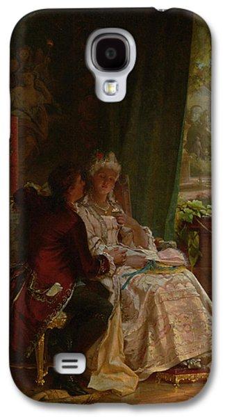 Garden Scene Galaxy S4 Cases - Romance Galaxy S4 Case by Carl Herpfer