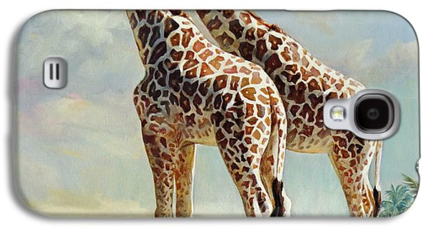Romance In Africa - Love Among Giraffes Galaxy S4 Case by Svitozar Nenyuk