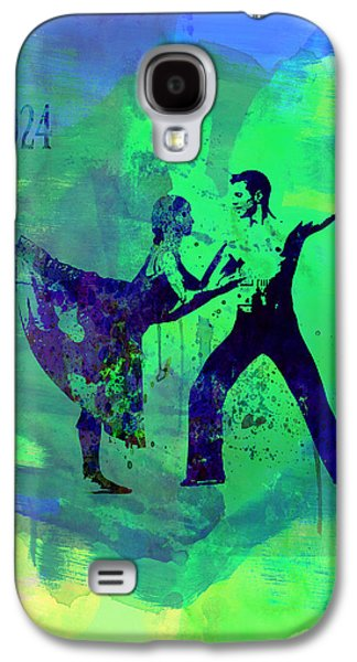 Young Mixed Media Galaxy S4 Cases - Romantic Ballet Watercolor 1 Galaxy S4 Case by Naxart Studio