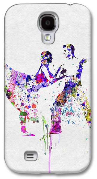 Young Mixed Media Galaxy S4 Cases - Romantic Ballet Watercolor 2 Galaxy S4 Case by Naxart Studio