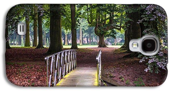 Garden Scene Galaxy S4 Cases - Romantic Bridge to Shadow Place. De Haar Castle Galaxy S4 Case by Jenny Rainbow