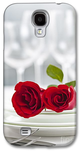 Romantic Dinner Setting Galaxy S4 Case by Elena Elisseeva