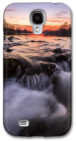 Landscapes Photographs Galaxy S4 Cases - Romantic sunset Galaxy S4 Case by Davorin Mance
