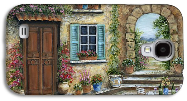 Romantic Tuscan Courtyard Galaxy S4 Case by Marilyn Dunlap