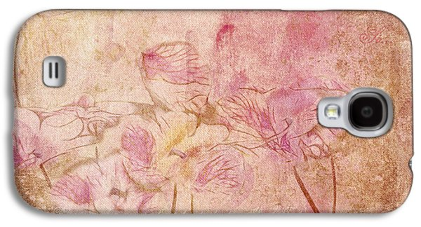 Texture Floral Galaxy S4 Cases - Romantiquite -  28at22 Galaxy S4 Case by Variance Collections