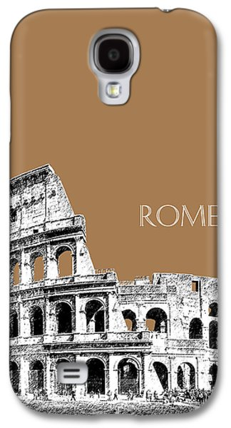 Rome Skyline The Coliseum - Brown Galaxy S4 Case by DB Artist