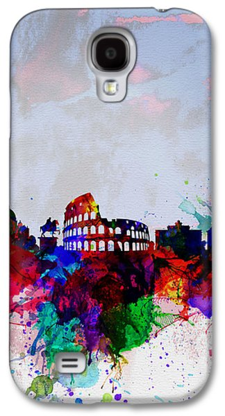 Architectural Digital Art Galaxy S4 Cases - Rome Watercolor Skyline Galaxy S4 Case by Naxart Studio