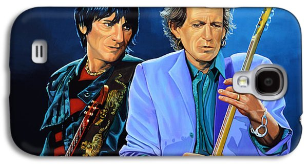 Keith Richards Galaxy S4 Cases - Ron Wood and Keith Richards Galaxy S4 Case by Paul  Meijering