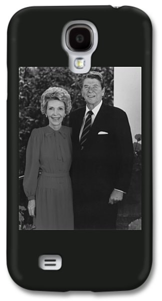 First-lady Galaxy S4 Cases - Ronald And Nancy Reagan Galaxy S4 Case by War Is Hell Store