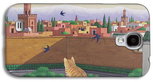 Rooftops In Marrakesh Galaxy S4 Case by Larry Smart