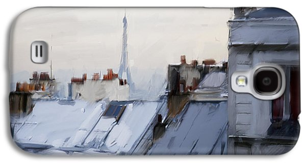 Rooftops Of Paris Galaxy S4 Case by H James Hoff