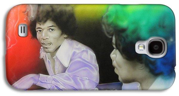 Jimi Hendrix Paintings Galaxy S4 Cases - Room Full of Jimis Galaxy S4 Case by Christian Chapman Art