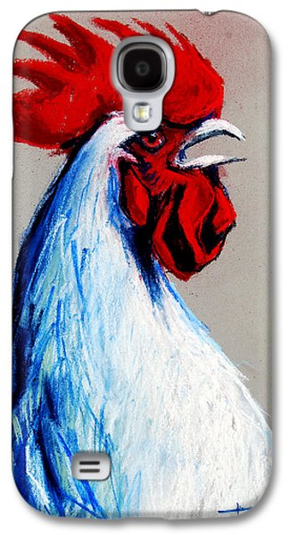 Light Pastels Galaxy S4 Cases - Rooster Head Galaxy S4 Case by Mona Edulesco
