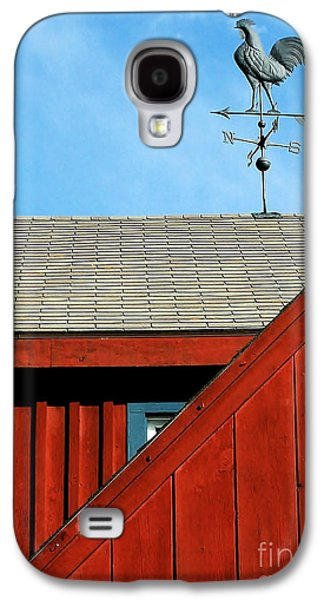 Weathervane Galaxy S4 Cases - Rooster Weathervane Galaxy S4 Case by Sabrina L Ryan