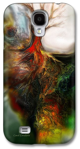 The Trees Mixed Media Galaxy S4 Cases - Roots Galaxy S4 Case by Carol Cavalaris