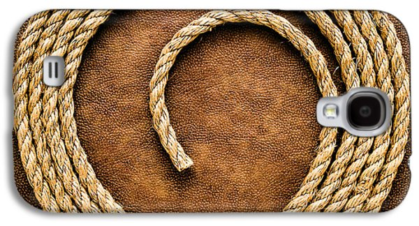 Steer Galaxy S4 Cases - Rope on Leather Galaxy S4 Case by Olivier Le Queinec