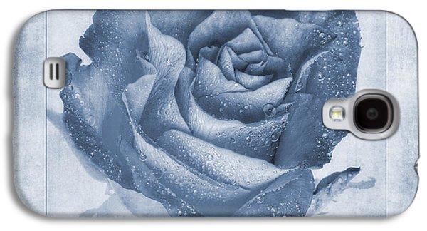 Floribunda Galaxy S4 Cases - Rosa Floribunda Rainbow Sorbet Cyanotype Galaxy S4 Case by John Edwards