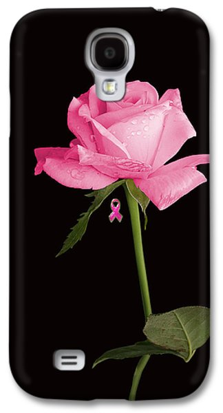 Greeting Cards For Cancer Galaxy S4 Cases - Rosa For Cancer iphone Galaxy S4 Case by James Lopez